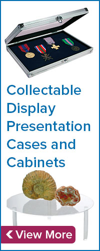 Collectable Display Presentation Cases and Cabinets