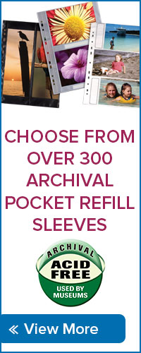 Choose from over 300 Archival Pocket Refill Sleeves