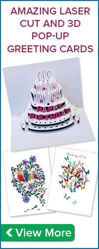 AMAZING LASER CUT AND 3D POP-UP GREETING CARDS