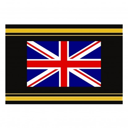 Black-Gold Album Label with Country Flags - UK Union Flag