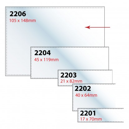 Self-adhesive Label Holders (Pack of 10) Range of sizes from 17x70mm to A4