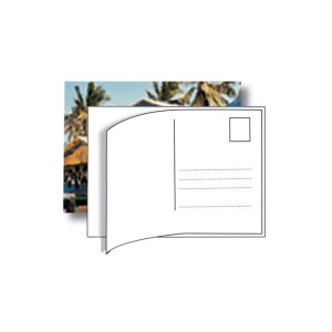 Postcard sticker Labels