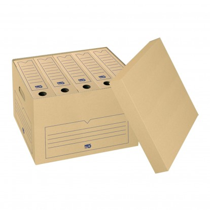 Archive Outer Box with Lid for Foolscap or A4 boxes or suspension files - Brown - single