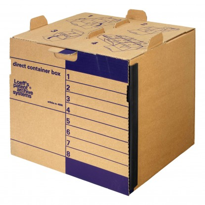 Modular Stackable Direct Container Archival Outer Box