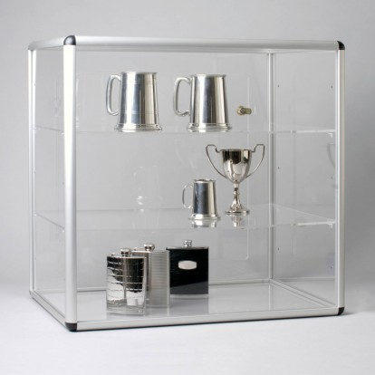Acrylic Large Counter-top Lockable Display Case