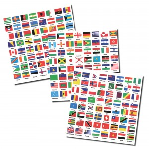 Flags of the World Labels