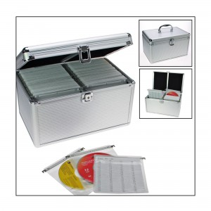 Aluminium Case for CD/DVDs 200