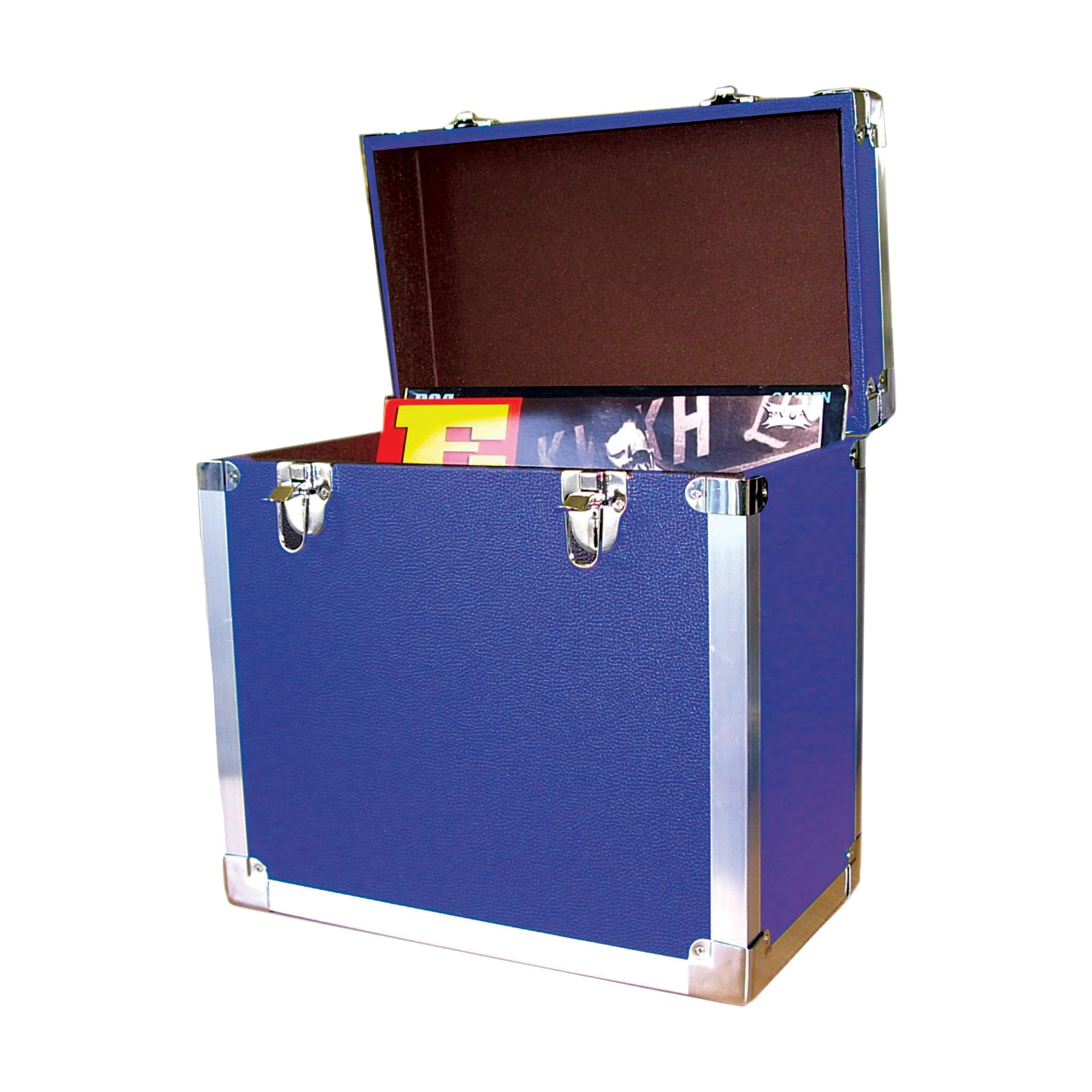 Lp 12 Quot Vinyl Record Retro Style Storage Case Blue