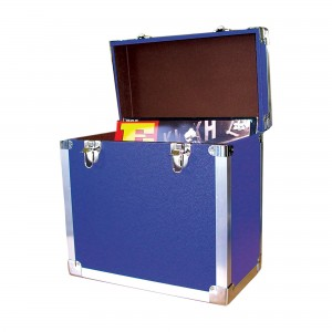 12 inch LP Vinyl Storage Case - Blue