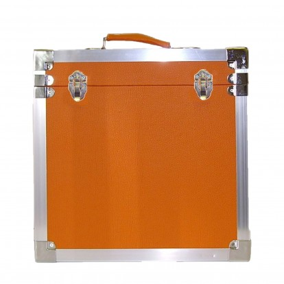 12 inch Retro Style LP Vinyl Storage Case - Orange