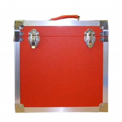12 inch Retro Style LP Vinyl Storage Case - Red