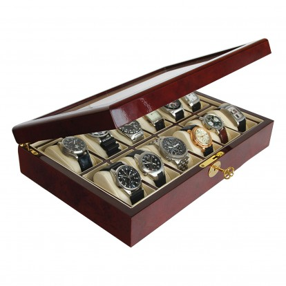 Wooden Display Case for Watches and Jewellery