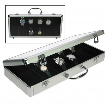 Aluminium case for 12 Watches or Jewelry items