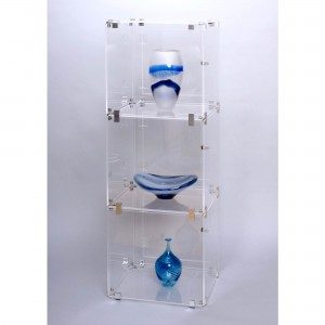 Acrylic 3 Cube Lockable Display Case