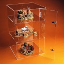 Acrylic Square Lockable Display Case 59cm