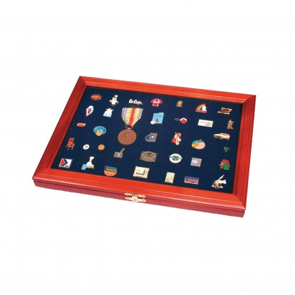 Blue Padded Inlay for Display Case - Medals Decorations & Pins