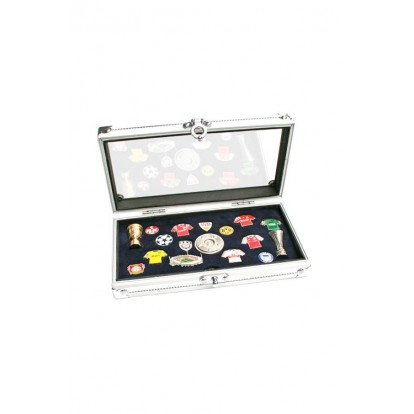 Collectors Aluminium case for Pins, Medals, buttons and badges