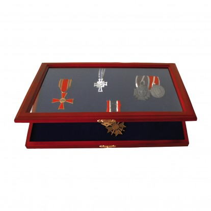 Wooden Display Case for Medals Decorations & Pins - Magnetic catch