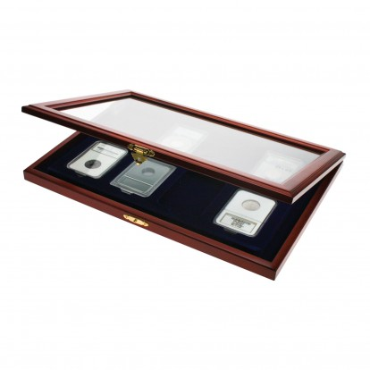 Wooden Display Showcase for 8 Slab Coin Capsules