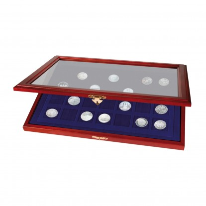 Wooden Display Showcases for Coins & Medals - 55x55mm