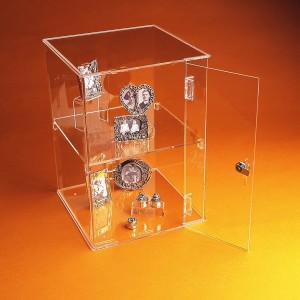 Acrylic Square Lockable Display Case 40cm