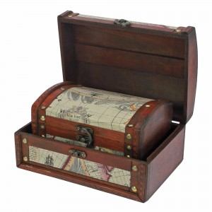 Set of 2 Treasure Chests