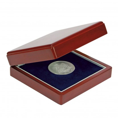 Dark Blue Individual Coin Case up to 90mm with mouldable base