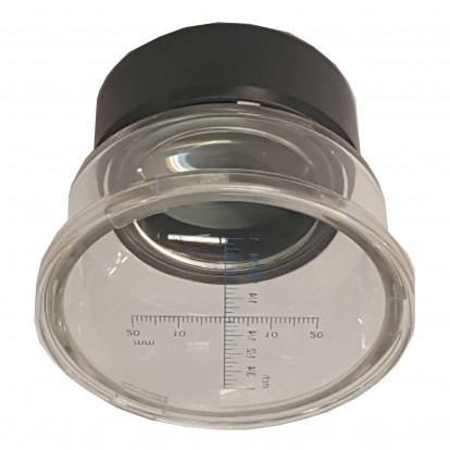 Coin Magnifier 7X with scale in base plate