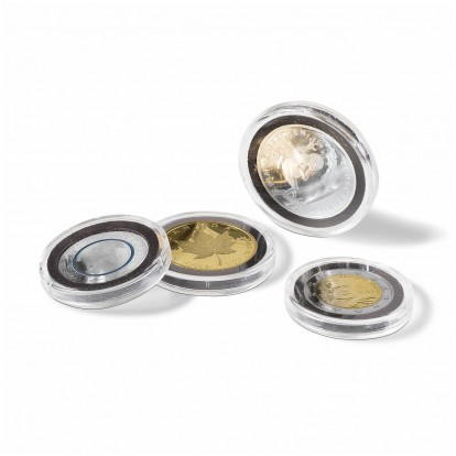Intercept Ultra Coin Capsules Range -Circular and Rimless with Anti-tarnish Foam (from 26-37mm)