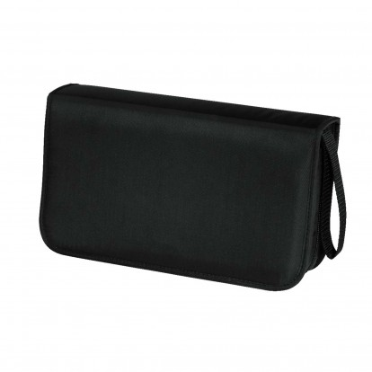 CD DVD Blu-Ray Black Zipper Wallet for 80 discs