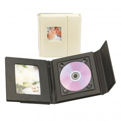 CD Wedding Photos Folio for 1 CD and aperture for 1 photo