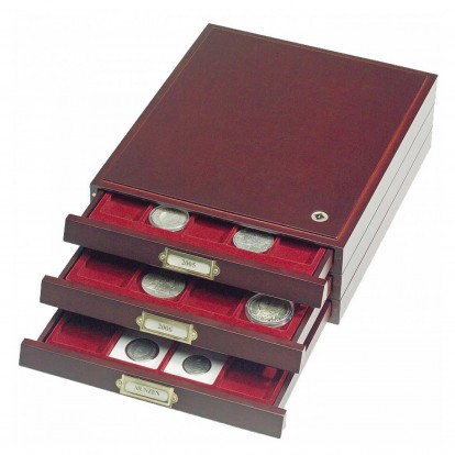 Lignum Stackable Wooden Coin Box Drawer for 35 Coins up to 35mm