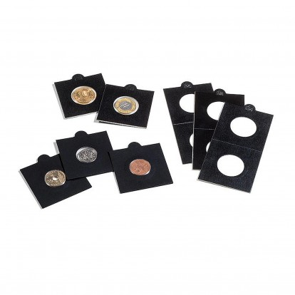 Matrix Black  Individual Self-Adhesive Coin Holders pack of 25