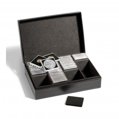 Presidio Coin Presentation Box with dividers for Quadrum capsules
