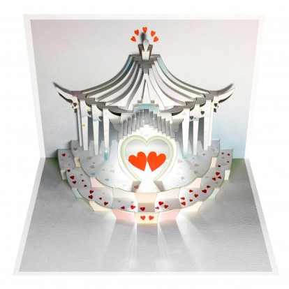 Heart Carousel - Amazing Pop-up Greeting Card