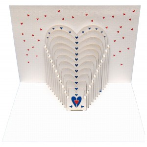 Hearts - Amazing Pop-up Card