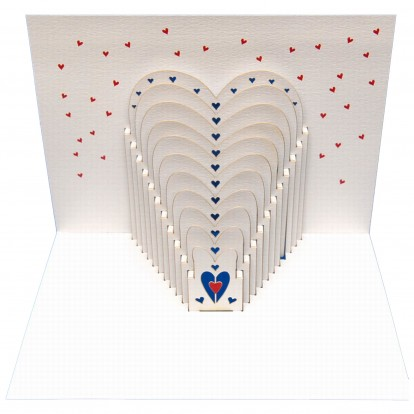 Hearts - Amazing Pop-up Greeting Card