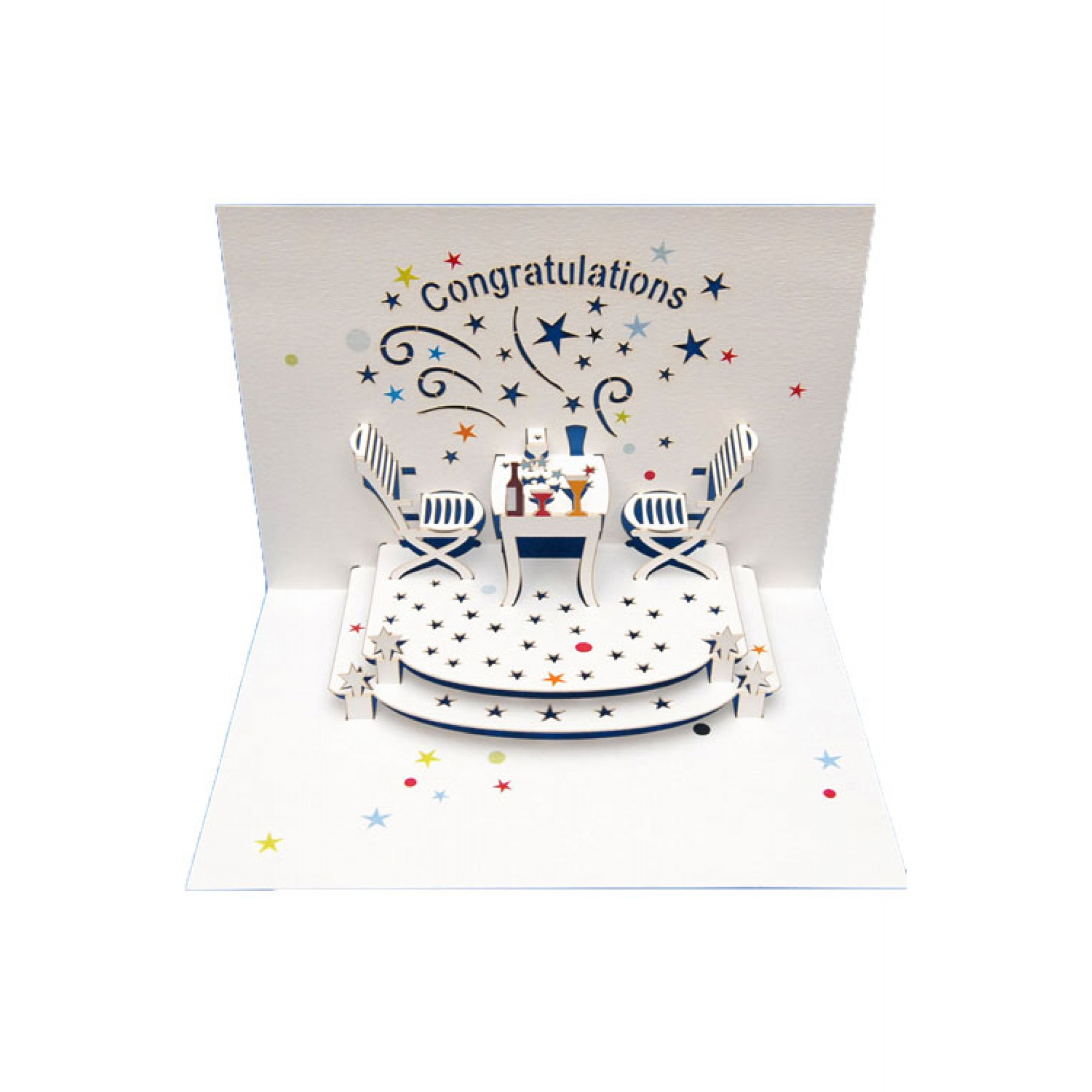 Greeting Card Congratulations Amazing Pop Up Laser Cut Design