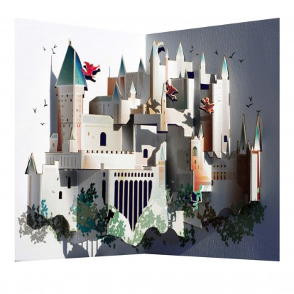 Hogwarts Castle - Amazing Pop-up Greeting Card