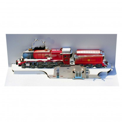 Hogwarts Express Red Train - Amazing Pop-up Greeting Card