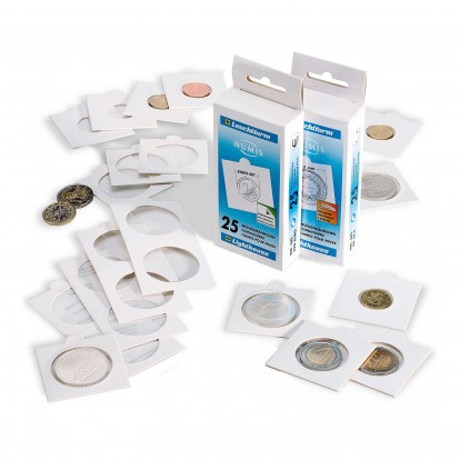 Matrix White Individual Self-Adhesive Coin Holders pack of 25
