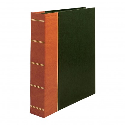 Ultima Green & Tan Hand-Made Binder album - slightly smaller to fit only RA refills