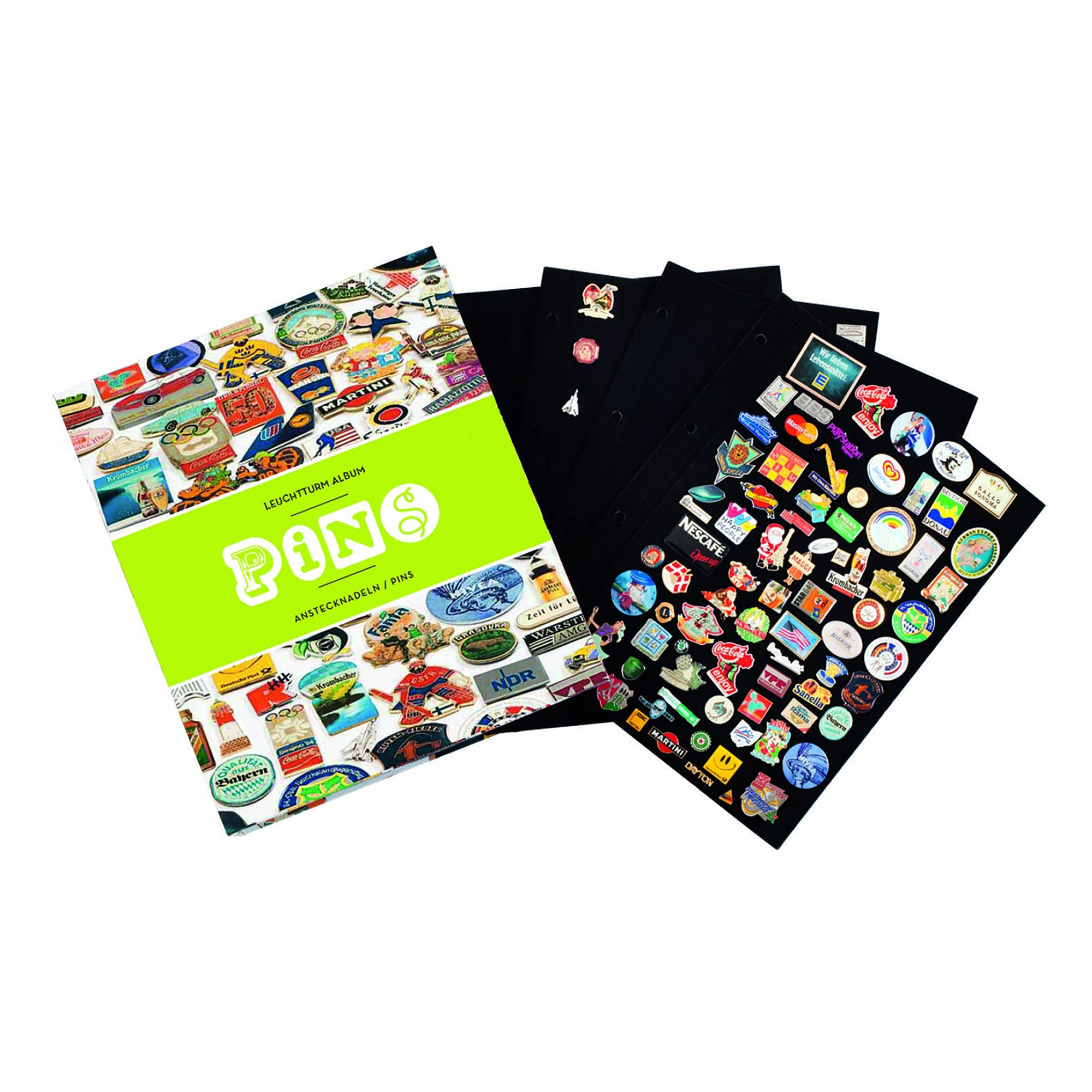 Collectable Pins And Badges Binder Album Including 4