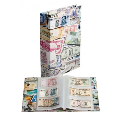 Post-Bound Bankote Album - holds 300 Banknotes
