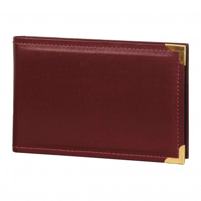 Pack of 2 Leatherette Mini 6x4 Slip-in Photo Albums - Blue or Burgundy