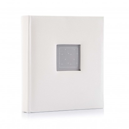 White Blanco 6x4.5 Digital Photo Slip-in Memo Album