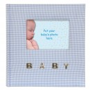 Baby Gingham 6x4 Slip-in Album Blue