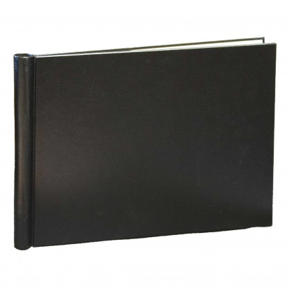 A3 Landscape Brampton Leather look Springback Folder - Black