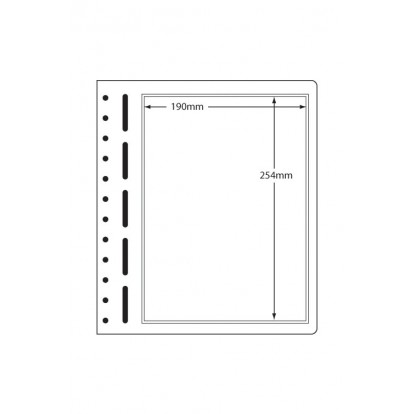 LB Sheets 190x254mm (1) Polyester Pockets on Card (pk 10)