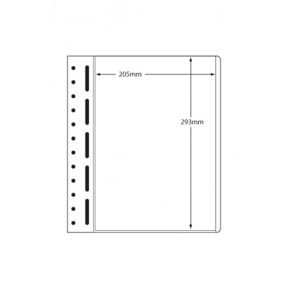 LB Sheets 205x293mm (1) Polyester Pockets on Card (pk 10)